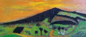 'Scottish Landscape', oil on board, signed, 33 x 41 cm, framed.