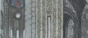 S.Euphemia. Spoleto. 1985. etching and aquatint, H55  W34 cm.